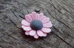 Momilio spineczka kwiatuszek baby pink