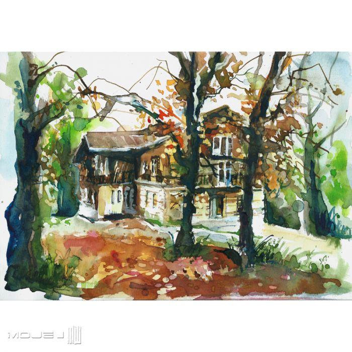 Jesienny dom - domek w lesie
