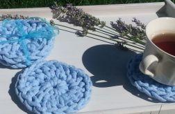 Podkładka pod kubek bawełniana błękitna