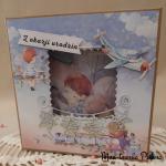 Kartka urodzinowa Pociąg - Pudełko na kartkę Pociąg