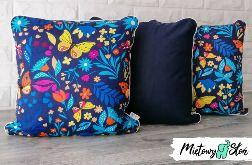 Komplet bawełnianych poduszek ~ motyle folkowe
