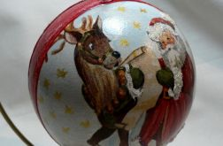 Bombka Mikołaj i renifer