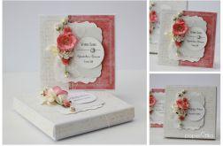 Kartka z pudełkiem zestaw ślubny B3