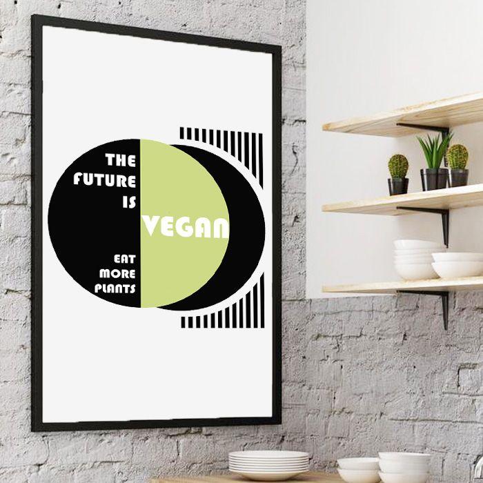 Plakat The future is Vegan