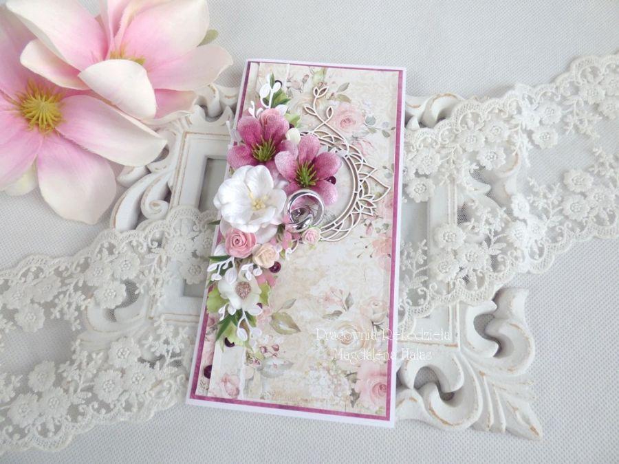 Ślubna kartka w pudełku 197 -