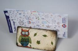 Decoupage ramka na zdjęcia - stojak - SOWA