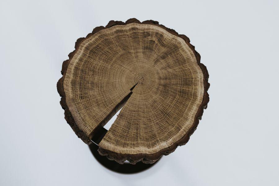 Szafka nocna dębowa z plastra drewna