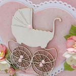 Pamiątka Chrztu dla dziewczynki - wózek 2