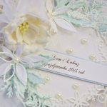 Kartka ślubna zimowy ślub