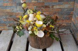 Stroik Wielkanocny na pniaku