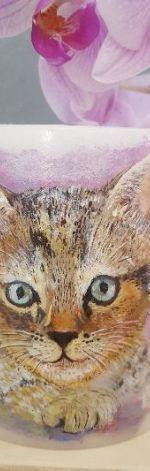 Świeca-lampion ręcznie malowana Filemonek