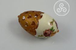 """Jajko ażurowe złote """"Róże"""""""