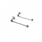 Komplet biżuterii z kuleczkami - Kolczyki wiszące na sztyfcie.