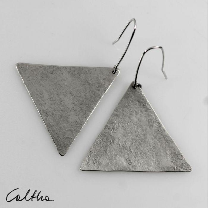 Trójkąty - srebrne kolczyki 191117-06 - Srebrna biżuteria