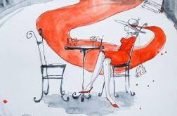 ''MARZENIE'' akwarela artystki Adriany Laube