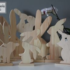 Zajączek z drewna 2