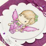 Cudownej Babci z aniołkiem KDB1802 - cudownej babci