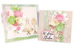 Komplet ślubny - kartka + pudełko - #663