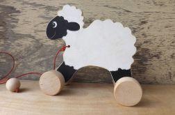 Drewniany baranek / owieczka, biała