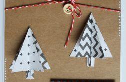 Kartka świąteczna Boże Narodzenie choinki