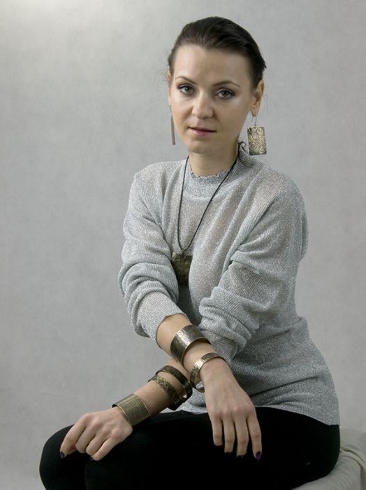 Mosiężna bransoleta - liście 171028-01