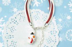 Świąteczna bransoletka z BAŁWANEM