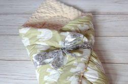 ROŻEK mata 100 % bawełna + Minky - beżowy SŁONIE