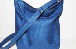 Niebieska torba na ramię, worek xl