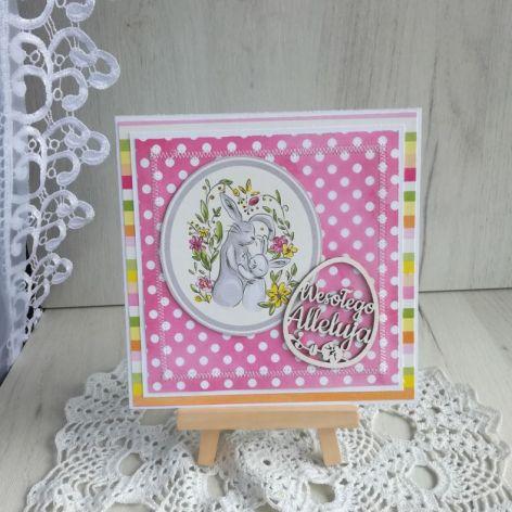 Kartka Wielkanocna z Zajączkami nr 3