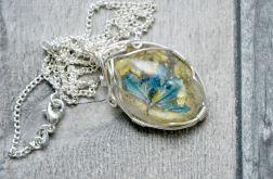 Zatopek naszyjnik błękitny kwiat