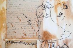 """""""Wielka miłość"""" collage, kolaż na papierze A3"""