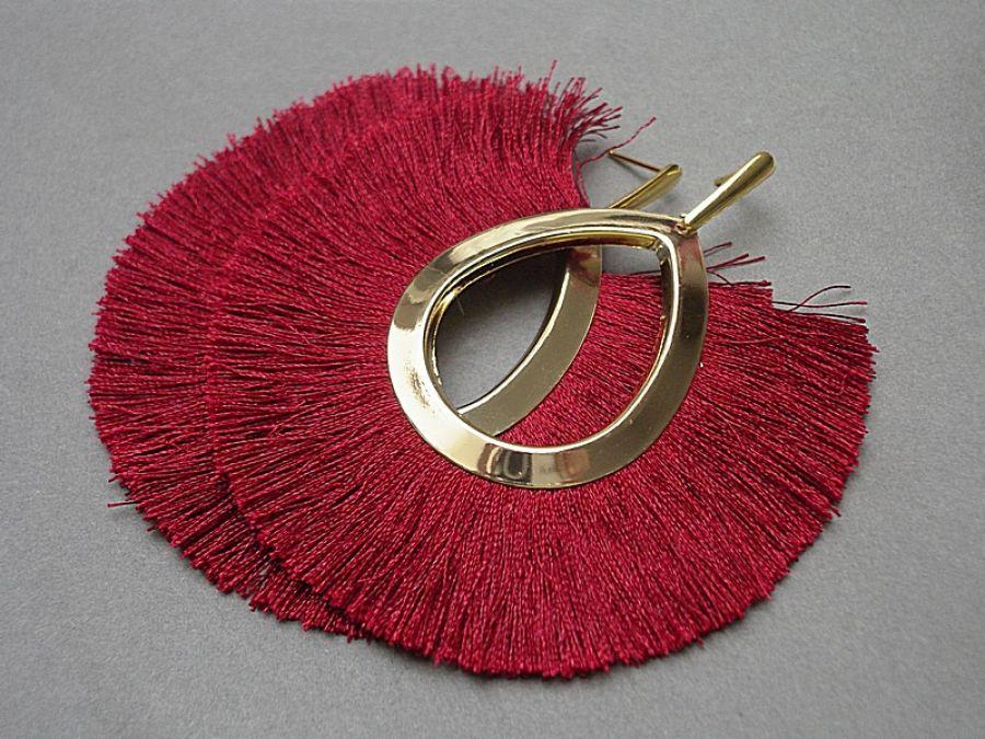 Boho /burgund/ - kolczyki