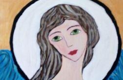 Anioł o zielonych oczach
