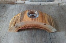 Świecznik/wazonik drewniany