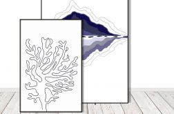 Grafika minimalistyczna Koral, Koralowiec
