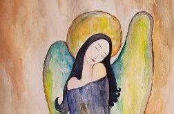 Anioł-akwarela formatu A3