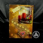 Kartka ze świecami - teofano atelier, pocztówka