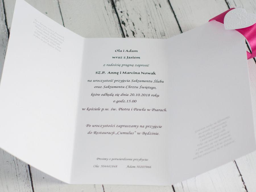 Zaproszenia na Ślub i Chrzest 2w1 -