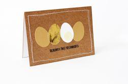 Złote pisanki kartka wielkanocna