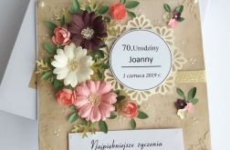 Kartka 70 urodziny z personalizacją