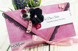 Kopertówka ślubna-pink Love (k2)