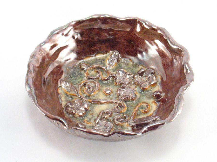 Miska ceramiczna lustrowa - miska ceramiczna , rękodzieło