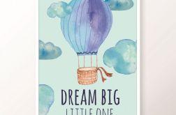 Plakat / DREAM BIG blue