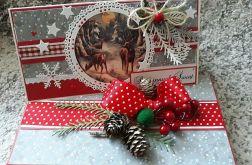 Kartka świąteczna z pudełkiem