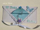 Kopertówka z okazji ślubu ' motyle o poranku'