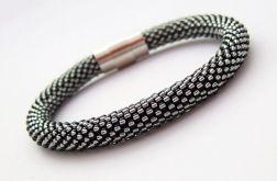 Bransoletka wąż srebrzysty grafit