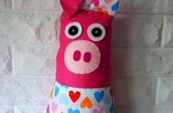 Świnka ~ maskotka-podusia z kieszonką