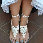 Ozdoba na stopy -białs sandałki ;o)