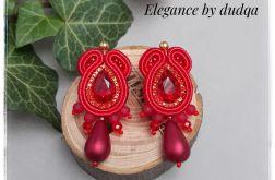Kolczyki sutasz Elegance by dudqa czerwone