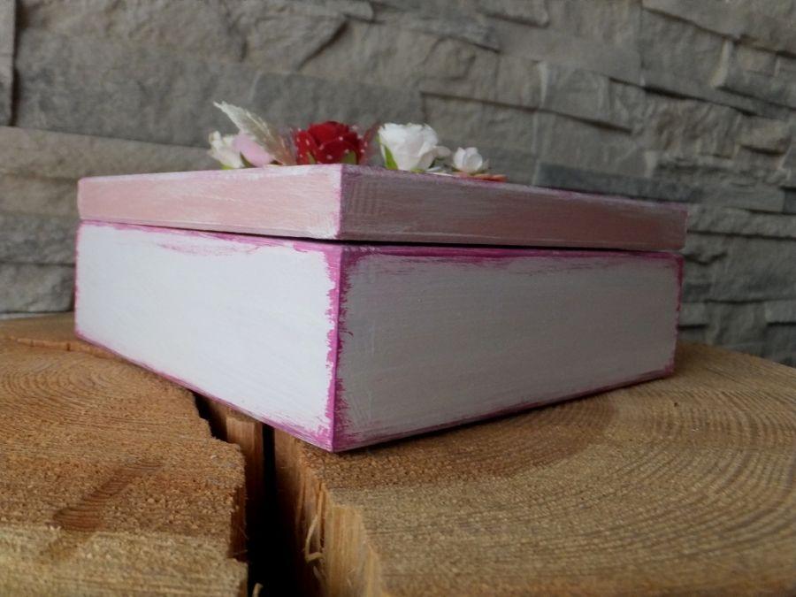 Pudełko na drobiazgi pamiątka Chrztu